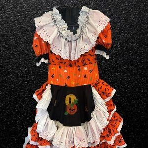 HALLOWEEN dance dress peasant barmaid style